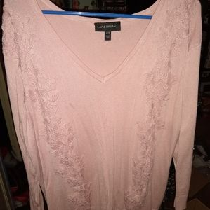 Long pink sweater 18/20
